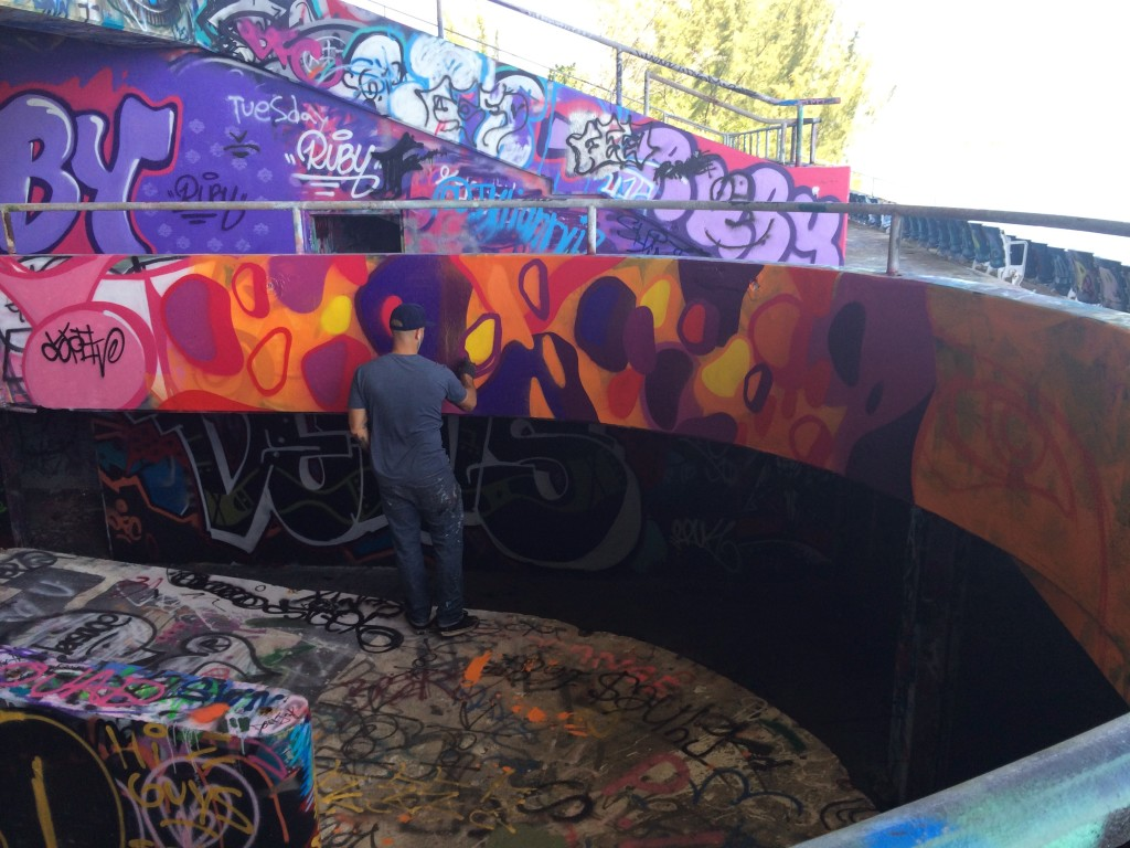 the miami marine stadium mural project successfully continues